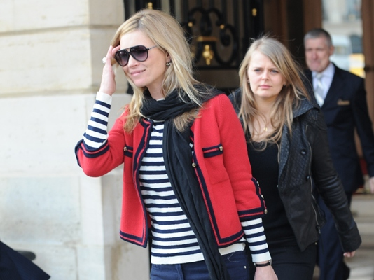 Kate Moss leaving her hotel in Paris