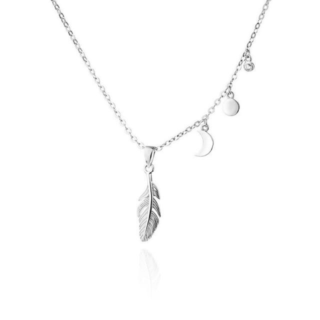 Srebrny naszyjnik w klimacie BOHO z kolekcji MAGICMOMENTS  Cenahellip