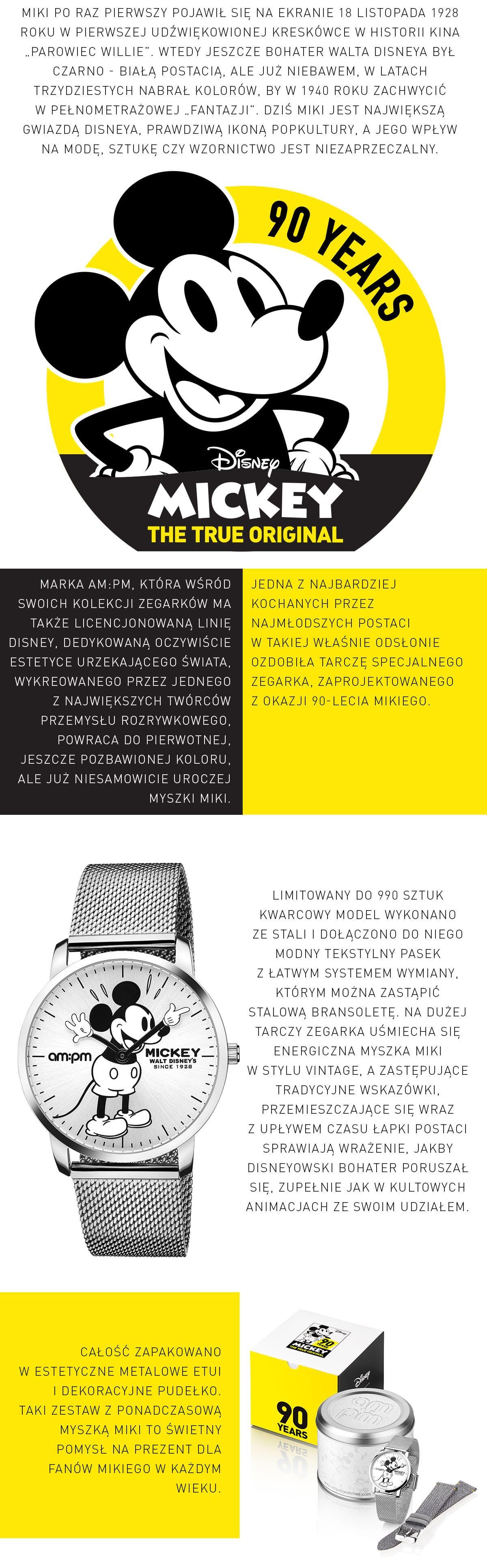 Myszka Miki Mickey Mouse AM:PM APART
